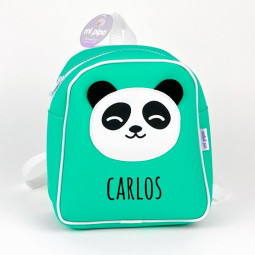 Mochila Panda Menta...